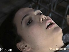 bounded hotty is trickling wet from her sexy torture