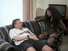 Nice Tits Ebony Heather Hunter Sucks A Stiff Pole