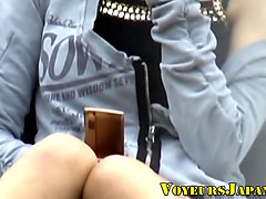 Japanese teen upskirted