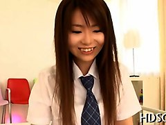 japanese girl spreading her schoolgirl pussy and getting groped
