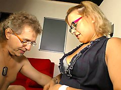 deutschland report - german mature blondie manuela p sucking and riding dick like a slut
