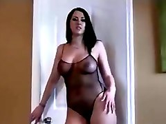 breath-taking curvy milf dancing seductively in tempting lingerie