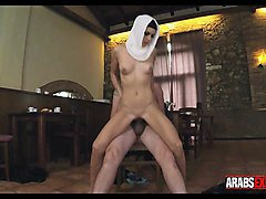 arab split open by thick cock