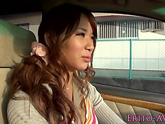 Tanlined busty nippon slut public blowjob