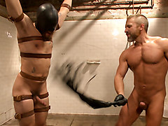 I'll show you fucking leather! - Two punks taken down in the gym