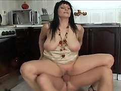 Hot Momma Merilyn Fucks in the Kitchen