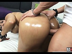 oiled latina with fat ass fucked rose monroe