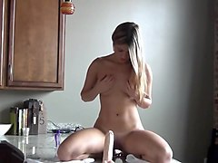 Girl  dildo ride