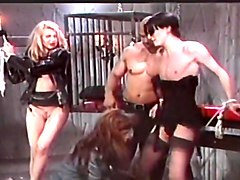 Tranny MILF Blows And Rides Pole