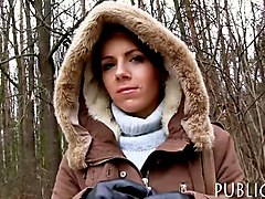 Czech babe banged in public for money