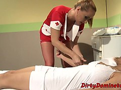 nurse lezdom domination over eurobabe