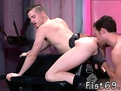 naked men gay sex rough axel abysse crouches on a fisting bench with his backside in the
