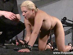 Rough interracial hardcore sex domination of busty Melanie Moon in pussy punishment bdsm and ### water bondage whilst