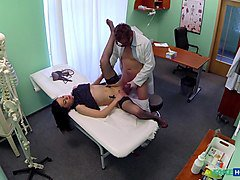 Inga in Sexy sales lady makes doctor cum twice as they strike a deal - FakeHospital