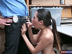 having some steamy fuck session with the security guard