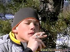 uncut native americans gay blonde cutie roma takes a smoke and stroke break outdoors in