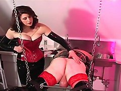 Dominatrix Punishes Her Male Slave