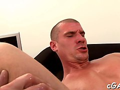 lubricous blowjob for gay stud movie