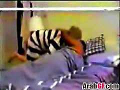 horny mature arab couple making passionate love in homemade